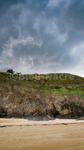 Pointe de Carolles avant l'orage
