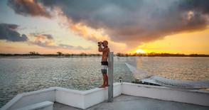 Coucher de soleil sur Man'O'war Cay