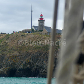 Le phare de Granville vu du Marité