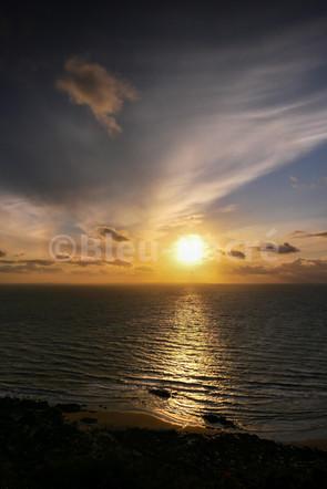 Coucher de soleil sur la pointe de Carolles