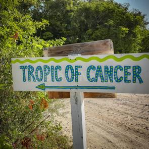 Direction la plage du Tropic du Cancer