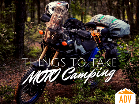 Moto camping for the Canadian wilderness