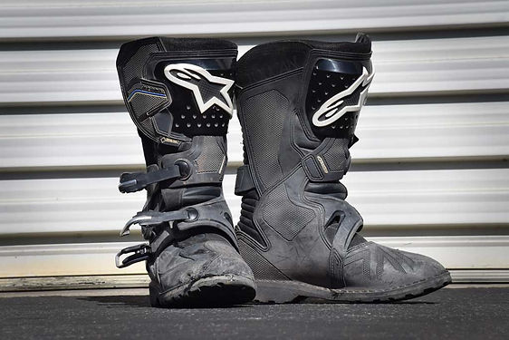 Adventure-motorcycle-boots-cleaning-care