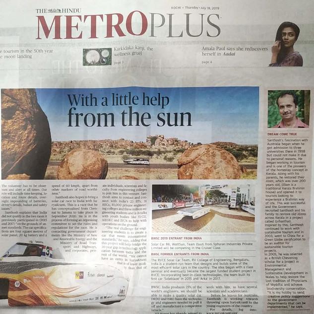 The Hindu Metro Plus