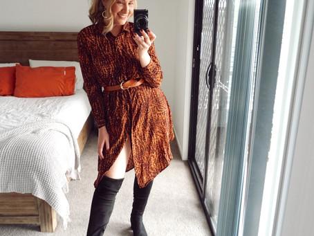 4 Chic ways to style the $30 Big W Animal Print Shirt Dress.