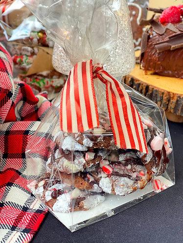 Mini Chocolate Crinkle Cookie Bags x 3
