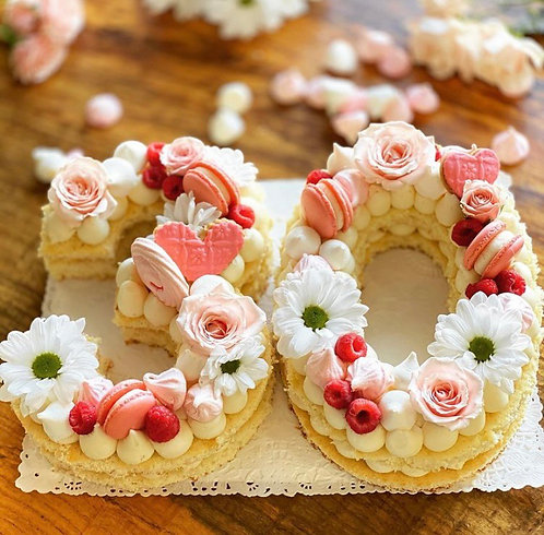 Double Cake (Letters/Numbers)