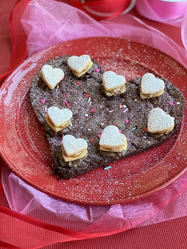 Huge Heart Brownie