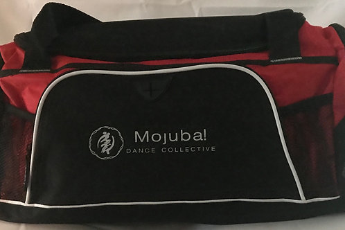 Red and black Mojuba! Dance Duffle