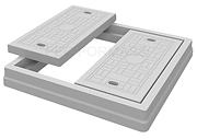desenho caixilho quadrado com tampa dupl