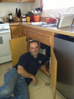 Armen doing a sink repair