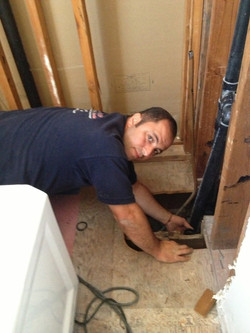 Mike doing a new tub installation
