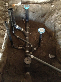 Sewer lines on new construction