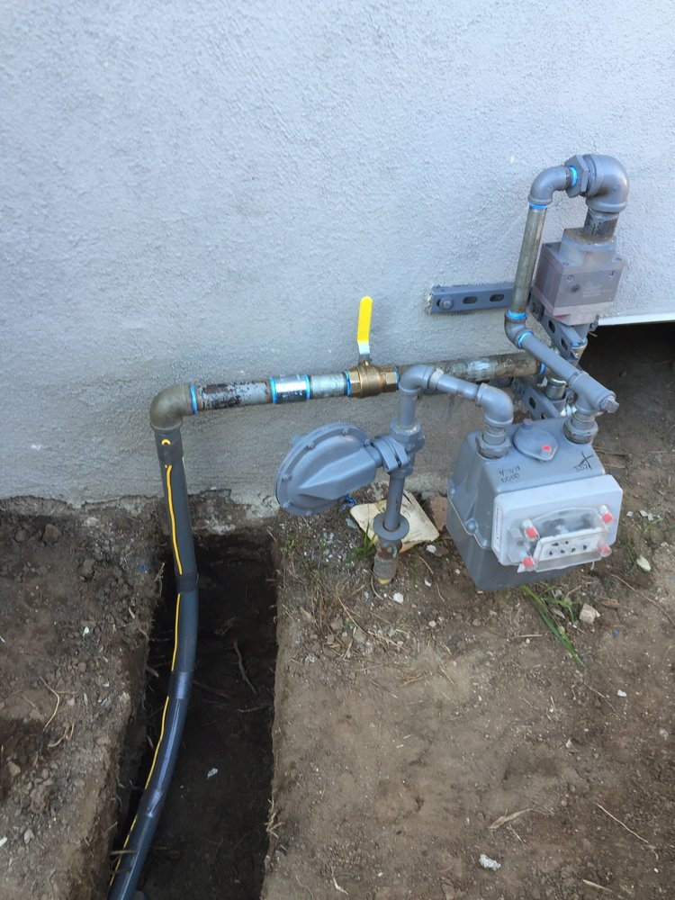 New gas line