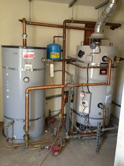 Multiple water heater installation