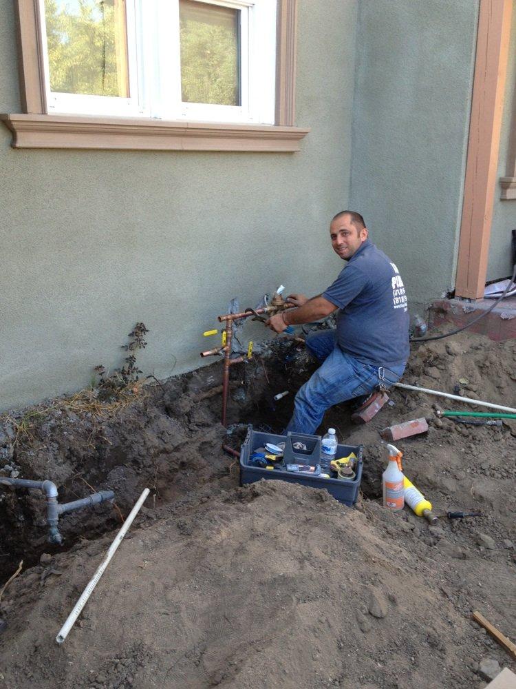 Mike installing a pressure regulator