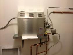 Steam unit installation
