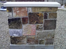 Building Stone Veneers: Artisan Display Panels - Artisan Stone Products Springfield IL call 217-697-8433 or visit our beautifully landscaped outdoor showroom at 2475 Peerless Mine Road,  Springfield Illinois 62702.