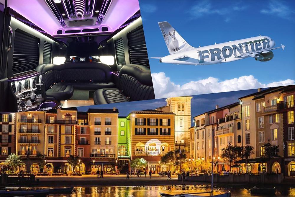 Luxury Transportation From MCO To Universal's Portofino Bay.