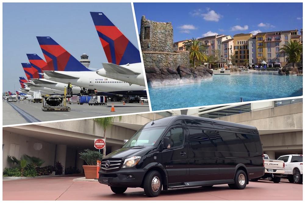 Black Car Service From MCO To Portofino Bay Hotel