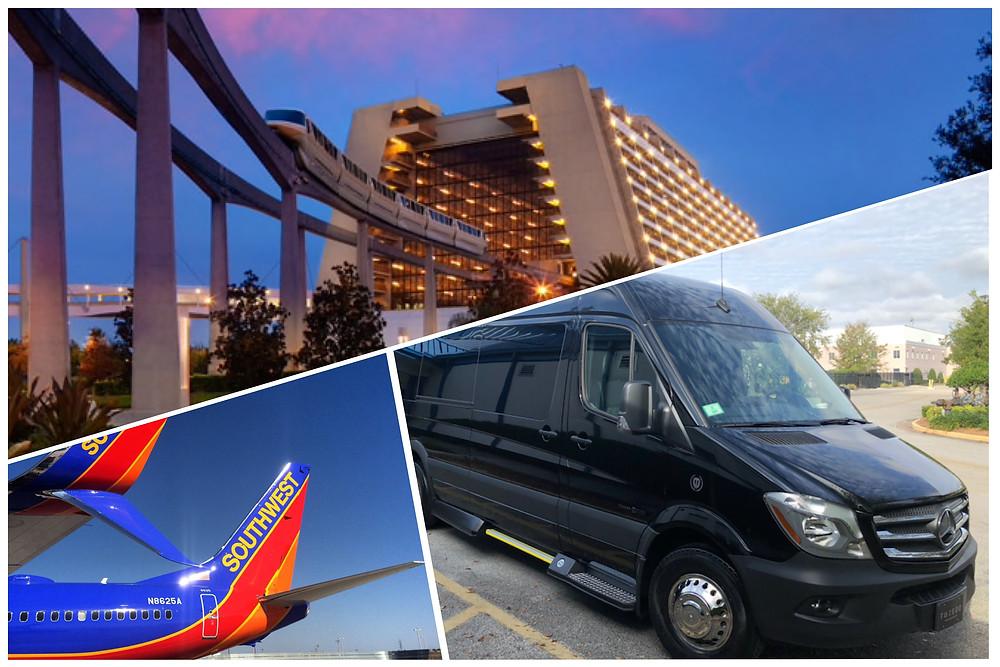 Orlando Car Service - Airport MCO - Disney Contemporary Resort