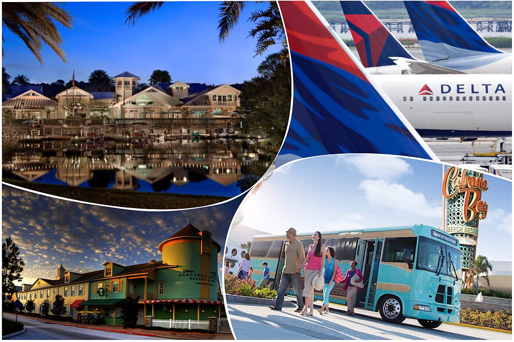 taxi shuttle transportation Orlando Airport MCO - Disney's Saratoga Springs Resort - Universal's Cabana Bay Beach Resort