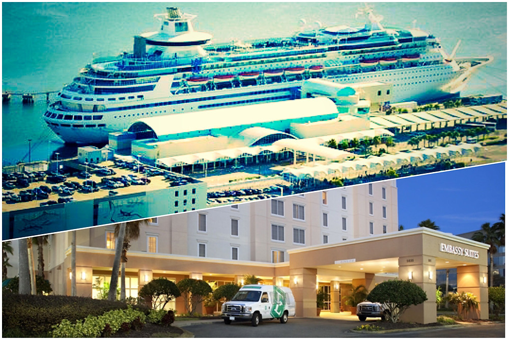 taxi shuttle transportation from Embassy Suites Orlando Airport to Port Canaveral