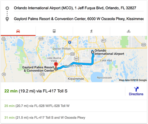 ORLANDO AIRPORT MCO TO GAYLORD PALMS RESORT & CONVENTION CENTER