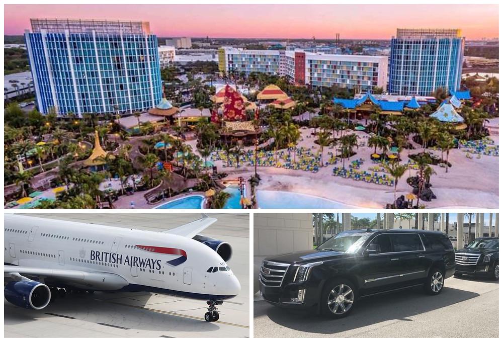Transportation From Orlando Airport to Cabana Bay Resort
