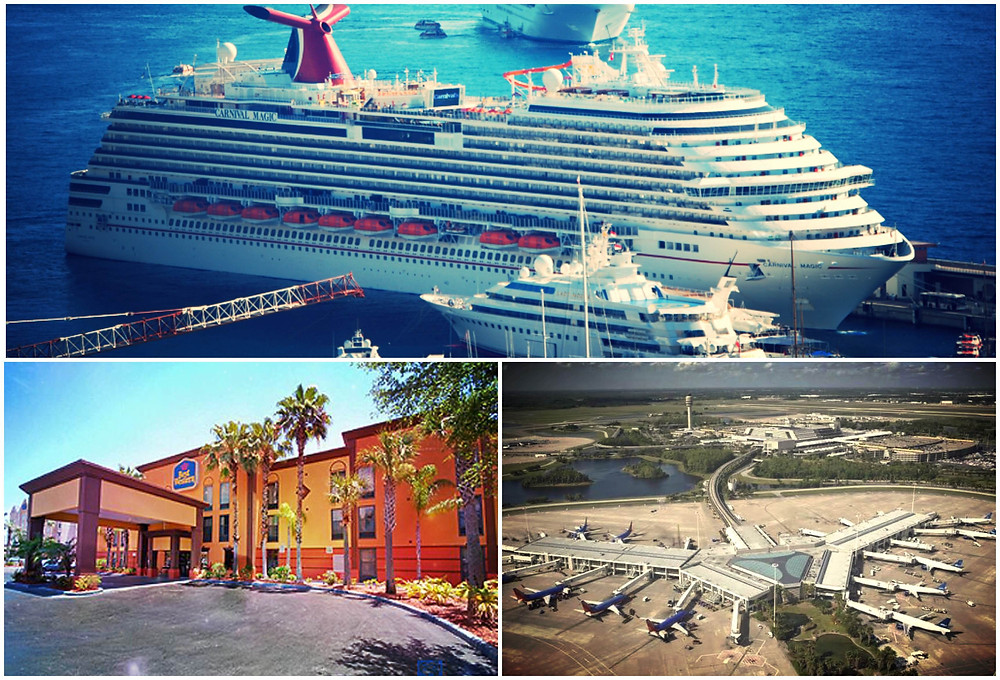 Transportation to Port Canaveral from Best Western Plus Orlando Universal