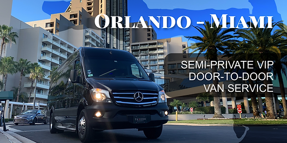 Best Semi-Private Shuttle Van Transportation Service Between Orlando And Miami