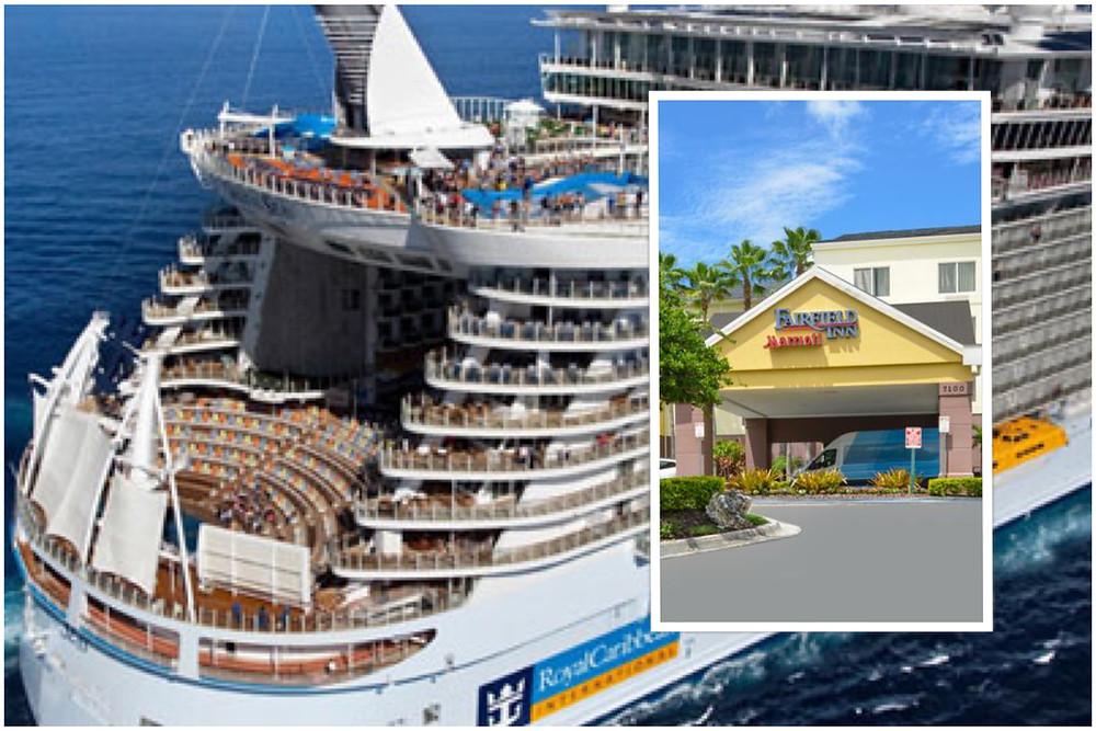 taxi shuttle transportation Fairfield Inn Orlando Airport - Oasis Of The Seas Royal Caribbean Port Canaveral
