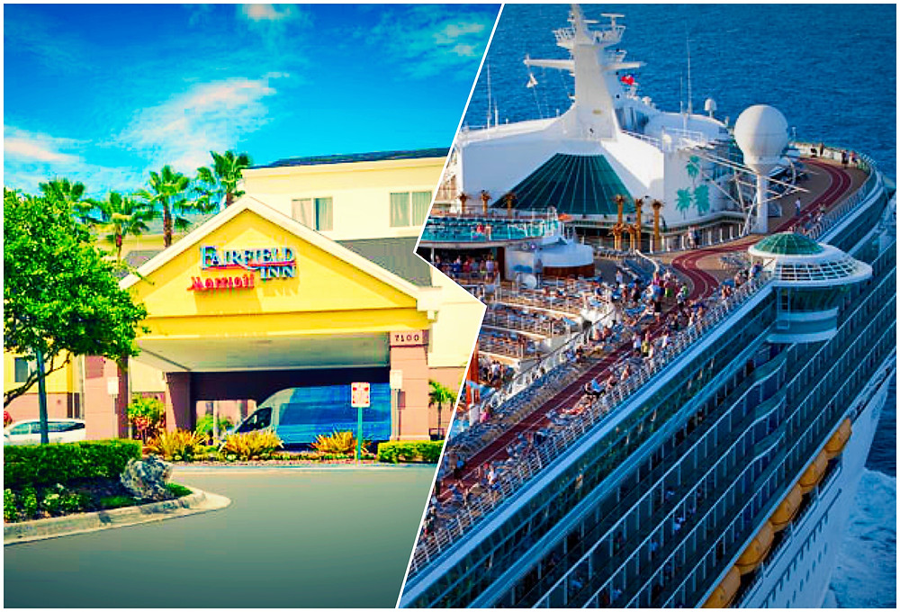 taxi shuttle transportation from Fairfield Inn Orlando Airport to Port Canaveral Royal Caribbean Cruise