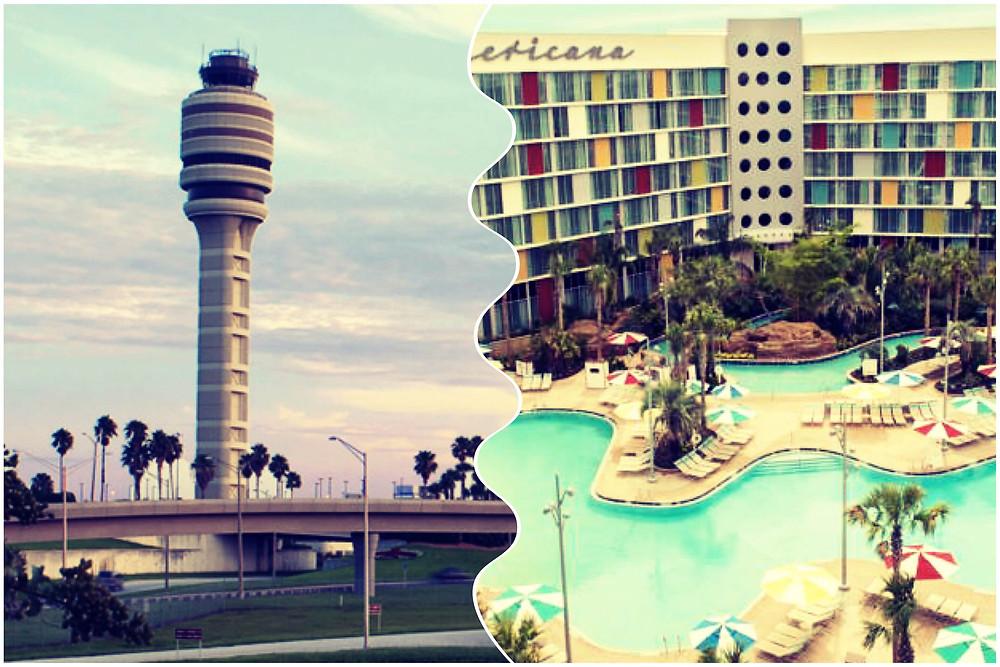 Transportation from Orlando Airport MCO to Cabana Bay Beach Resort, Universal Studios