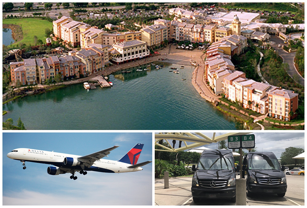 Best Private Transportation From Orlando Airport MCO To Universal Studios Portofino Bay Hotel