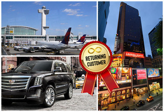 🇺🇸 ★★★★★ Car Service From JFK To Crowne Plaza Times Square Manhattan.