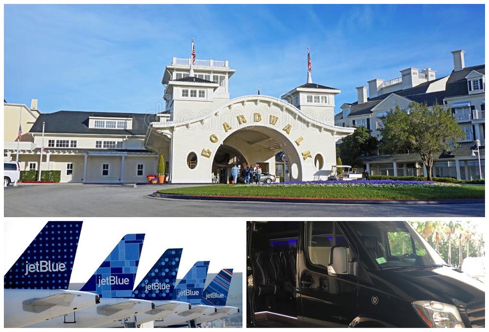 Transportation From Orlando Airport MCO to Disney World, Disney's Boardwalk Inn