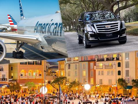 🇺🇸 ★★★★★ Car Service Between Orlando Airport And Portofino Bay.