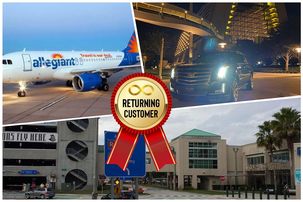 Airport Transportation From SFB To Hilton Orlando Lake Buena Vista