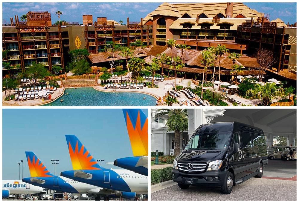Car Service From Sanford Airport SFB To Disney's Animal Kingdom Lodge