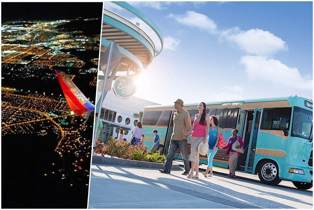 Transportation from Orlando International Airport MCO to Cabana Bay Beach Resort.