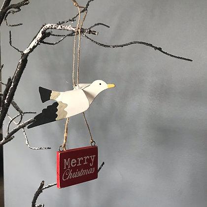 MERRY CHRISTMAS SEAGULL HANGER