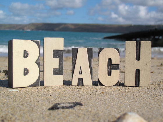 BEACH BLOCK LETTERS