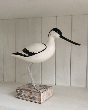 HAND CARVED AVOCET STANDING