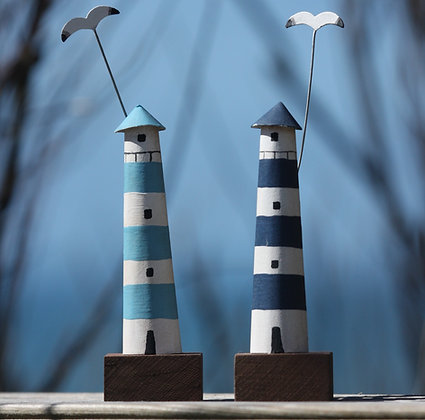 MINI STRIPED LIGHTHOUSE