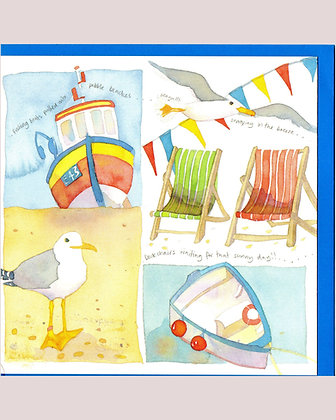 SWOOPING SEAGULLS CARD BY EMMA BALL