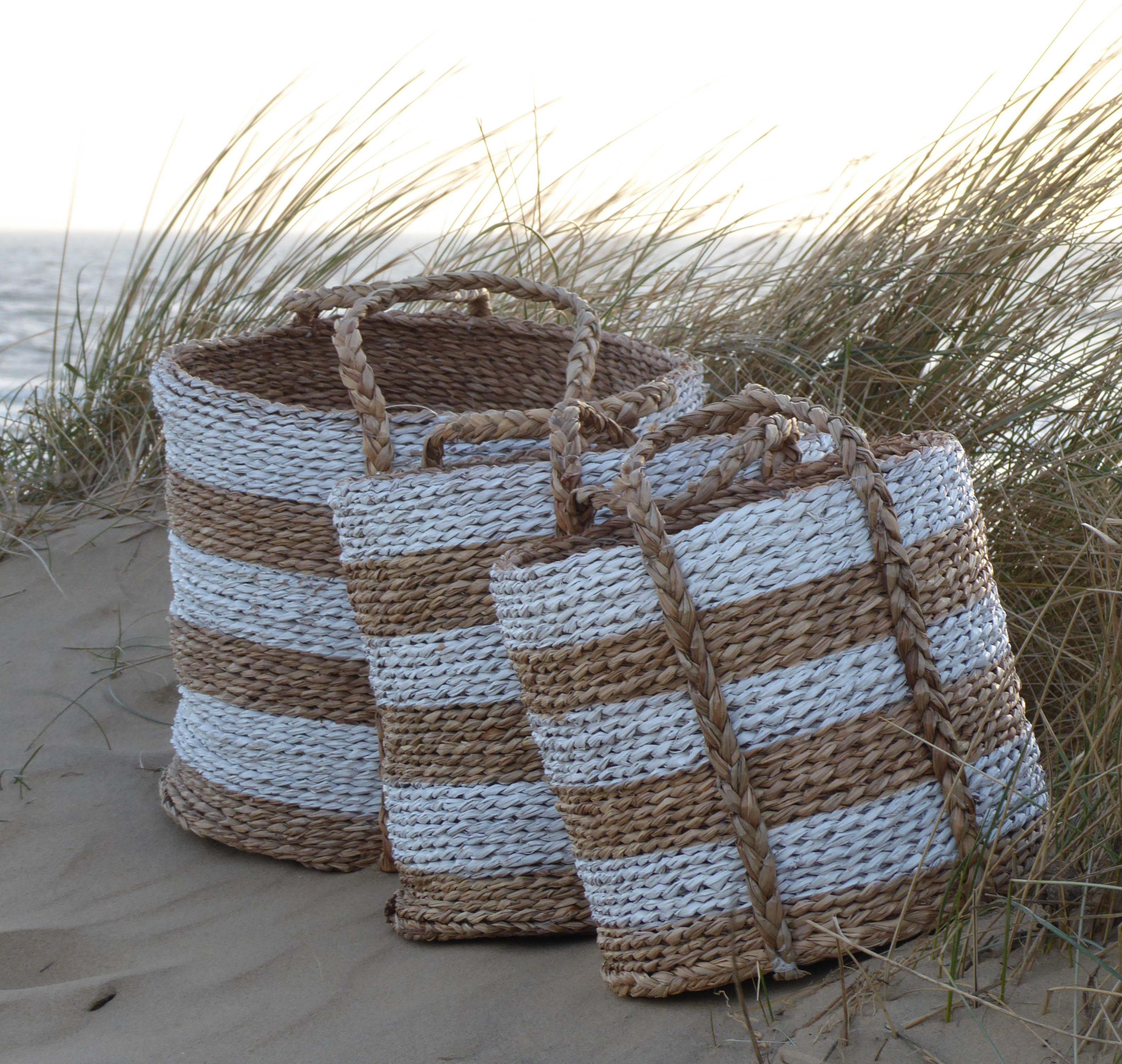 Striped-seagrass-baskets