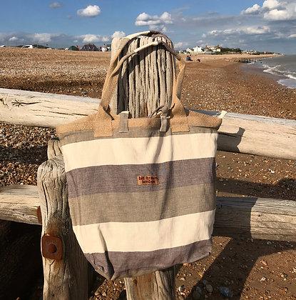 BILL BROWN DRIFTWOOD STRIPE BEACH BAG