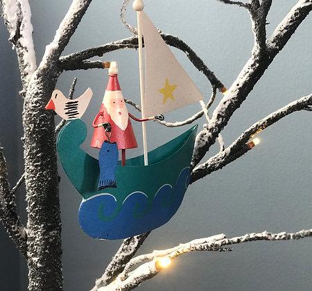 HIGH SEAS SANTA CHRISTMAS DECORATION