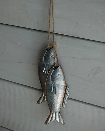 GALVANISED FISH PAIR HANGER